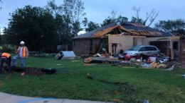 Cleburne Homes Damaged by Tornado