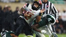 Photos: Michigan State Beats Maryland 17-7 in the Snow