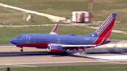 Plane With Blown Tire Touches Down Safely at Love Field