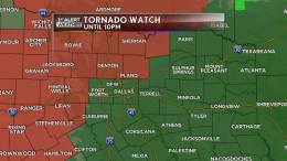 Tornado Watch Issued in N. Texas Until 10 P.M.
