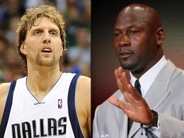 All-Star Sightings: Michael Jordan, Dirk Nowitzki and Charles Oakely