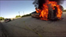 Dozens Flee Burning Tour Bus in California Desert