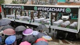Rain, Sorrow at Memorial for Brazilian Plane Crash Victims