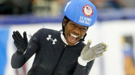 Biney Is 1st Black Woman in US Olympic Speedskating Team