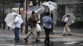 Heavy Rain, Winds Lash Tokyo as Powerful Typhoon Hits Japan