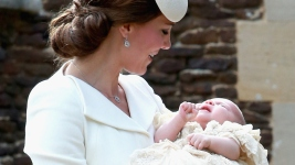 Princess Charlotte Christened on Queen's Estate