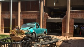 85-Year-Old Man Drives Truck Off 2nd Floor of Garage