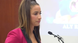 'Your Time Is Up': Olympian Aly Raisman Faces Ex-Doctor