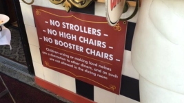 No Strollers, No Kids in Dining Room: NorCal Restaurant Sparks Social Firestorm With Sign