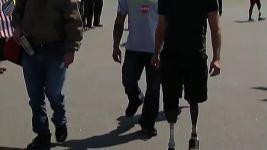 Wounded Veterans Arrive for Boston Marathon