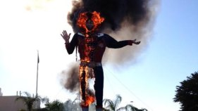 Big Tex Destroyed by Flames