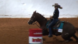 Amateurs Barrel Through Fort Worth Stock Show