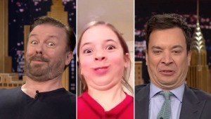 "Jimmy Fallon and Ricky Gervais Play ""Funny Face Off"""