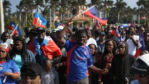 Haitians Protest Trump Over 'S--thole' Remark in Florida