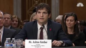 Ashton Kutcher Testifies on Ending Human Trafficking