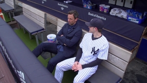 Seth Meyers Visits Yankee Stadium