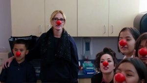 Red Nose Day: Roberts Meets School Nurse With Special Touch
