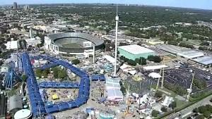 Aerial Footage: Fair Park Readies For 2016 State Fair of Texas