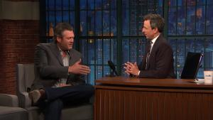 'Late Night': Shelton Dishes on Singing With Clarkson