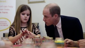 Prince William Comforts Grieving Girl With Talk of Diana