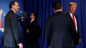 Rosenstein Joked About Secretly Recording Trump: Officials
