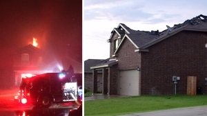 Lightning Sparks Fire at Seagoville Home