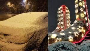 Rare Snowfall in South Texas