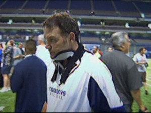 Joe DeCamillis Gets His Neck Brace Off