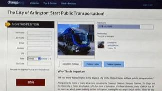 UTA Students Starts Petition for Public Transportation