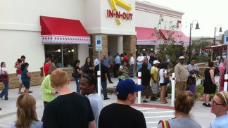 In-N-Out Fans Wait For Hours In The Rain