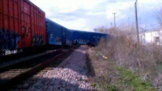Witness Records Aftermath of Train Derailment