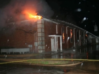 Church Fire In Wills Point