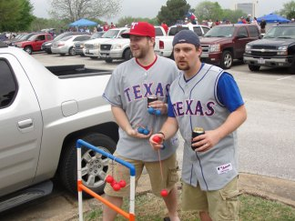 Thousands Tailgate at Rangers Opening Day