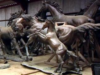 Copper Horses Rustled Right Out of Warehouse