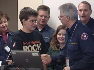 Teen Receives 911 Award