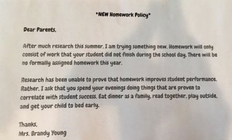North Texas Teacher's 'No Homework Policy' Goes Viral