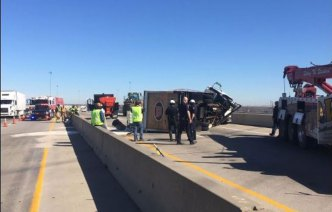 Crash, Glue Spill Closes 121 in Grapevine for Hours