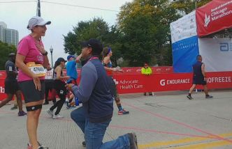 Chicago Marathon Runner Says 'Yes' to Surprise Marriage Proposal at Finish Line