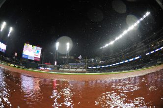Rangers-Braves Rained Out, Doubleheader Set for Wednesday