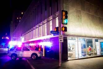 Driver Knocks Streetlight Into Dallas Morning News Building