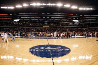 Cowboys Stadium Gets NBA Makeover