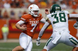Ehlinger Injured, but No. 9 Texas Survives Baylor