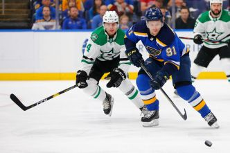Blues Beat Stars 3-2 in Game 1