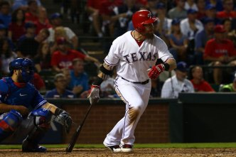 Hamilton Working to Play First Base with Rangers