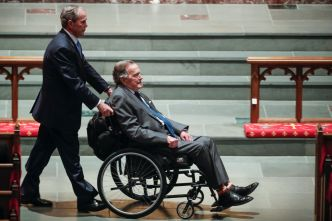 George H.W. Bush Returns to Texas After Summer in Maine