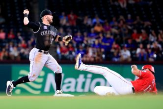 Desmond Homers Twice as Rockies Rally for Win at Rangers