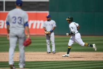 Davis Slugs 41st, Cotton Goes 5 Strong as A's Top Texas 8-1