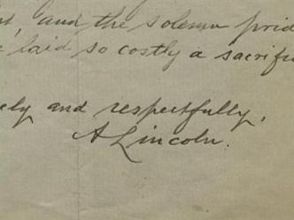 Famous Letter From Abraham Lincoln Discovered In Dallas