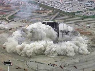Stadium Implosion: Chopper View