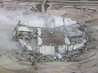 Stadium Implosion: Nothing But Rubble